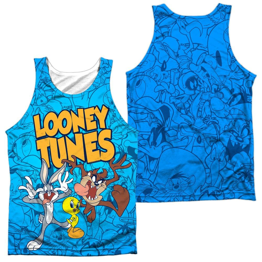 Looney Tunes Collage Of Characters Adult 100% Poly Tank Top