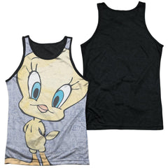Looney Tunes Tweety Girl Adult Black Back Tank top