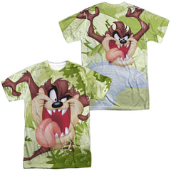 Looney Tunes Taz Adult All Over Print 100% Poly T-Shirt