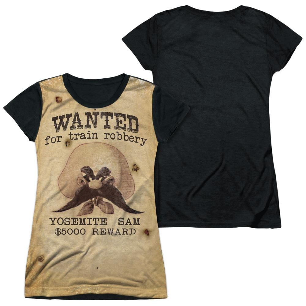 Looney Tunes Wanted Junior Black Back 100% Poly T-Shirt