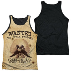 Looney Tunes Wanted Adult Black Back Tank top