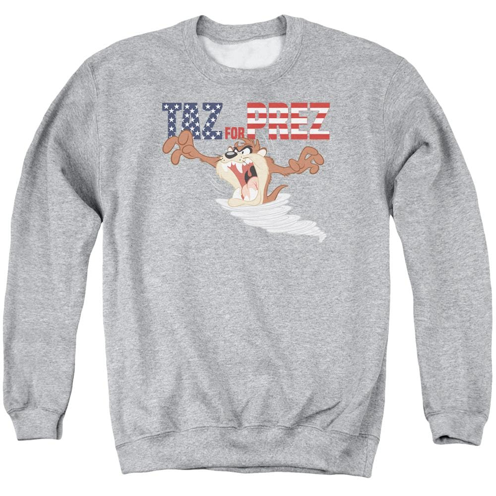 Looney Tunes Taz For Prez 3 Adult Crewneck Sweatshirt