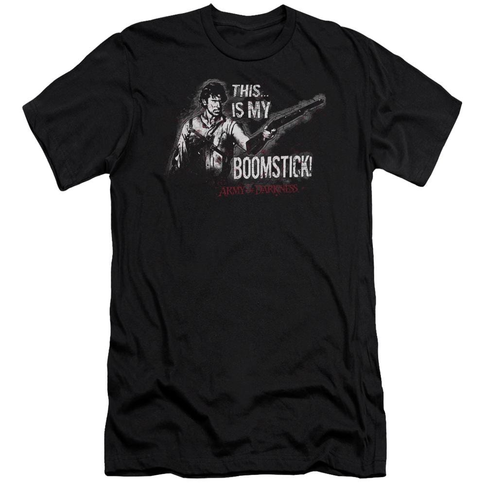 Army Of Darkness Boomstick Adult Slim Fit T-Shirt