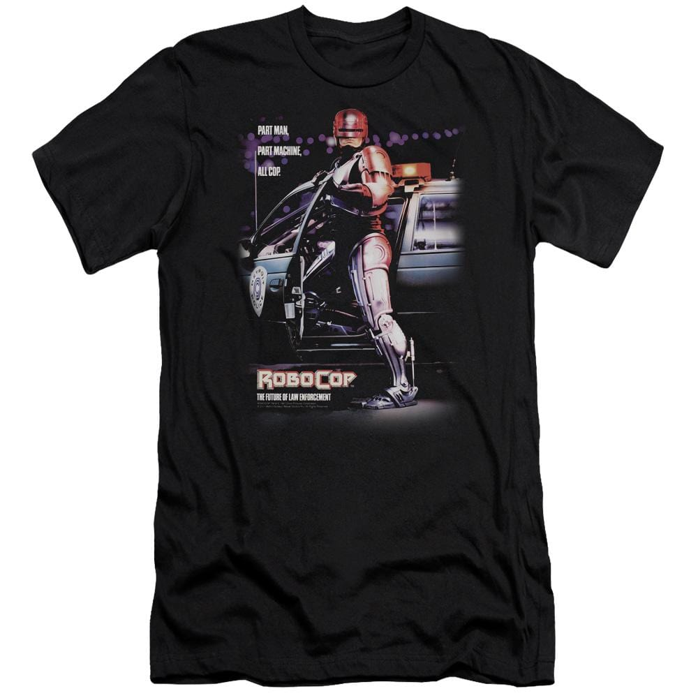 Robocop Poster Premium Adult Slim Fit T-Shirt