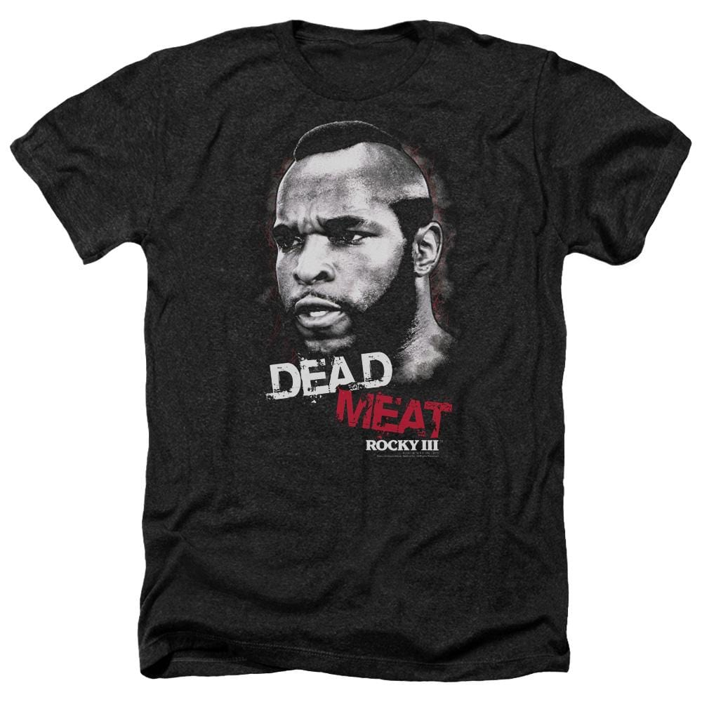 Rocky Iii Dead Meat Adult Regular Fit Heather T-Shirt