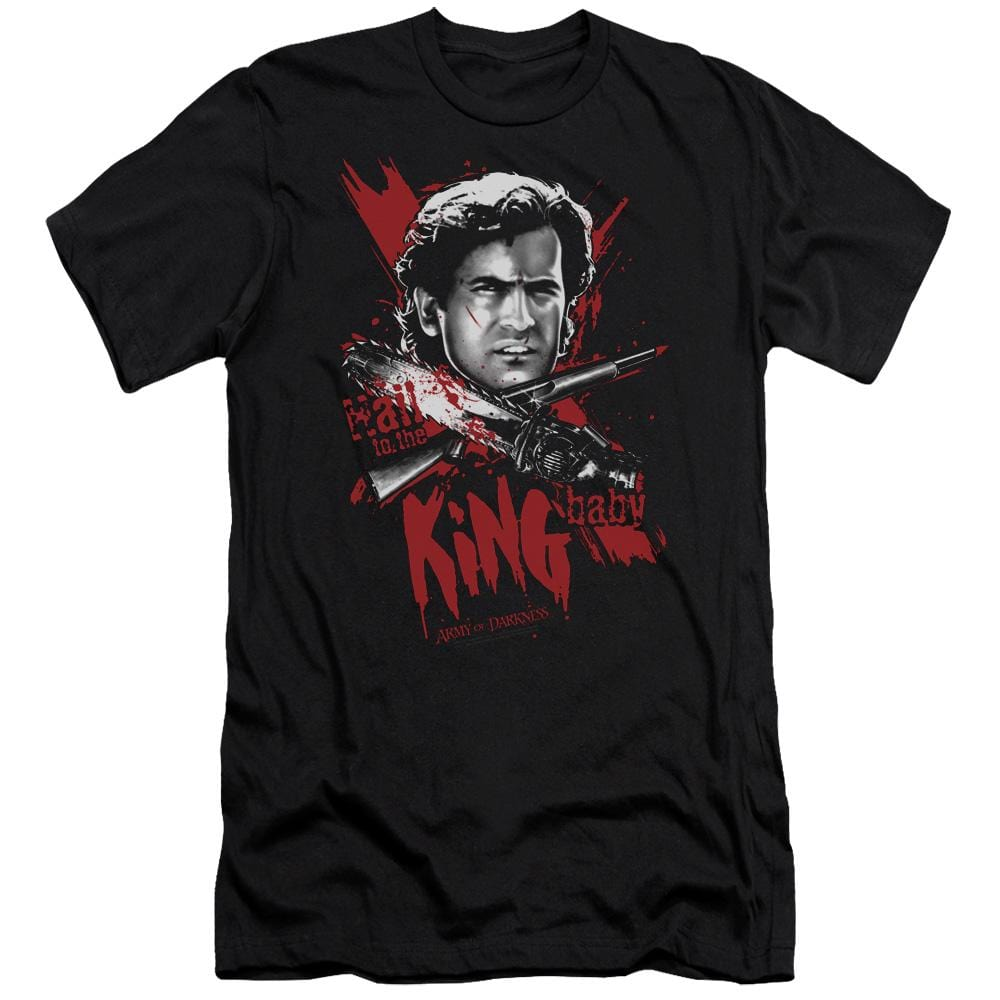 Army Of Darkness Hail To The King Premium Adult Slim Fit T-Shirt