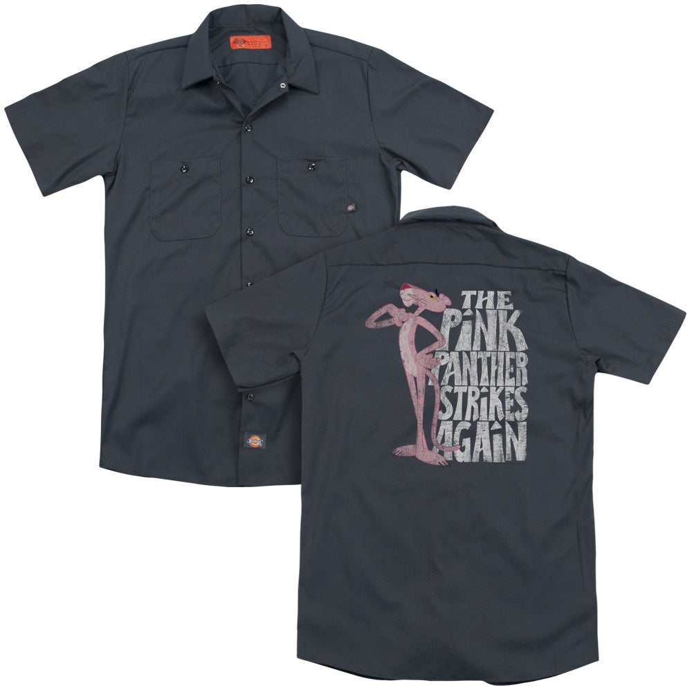 Pink Panther Strikes Again Adult Work Shirt