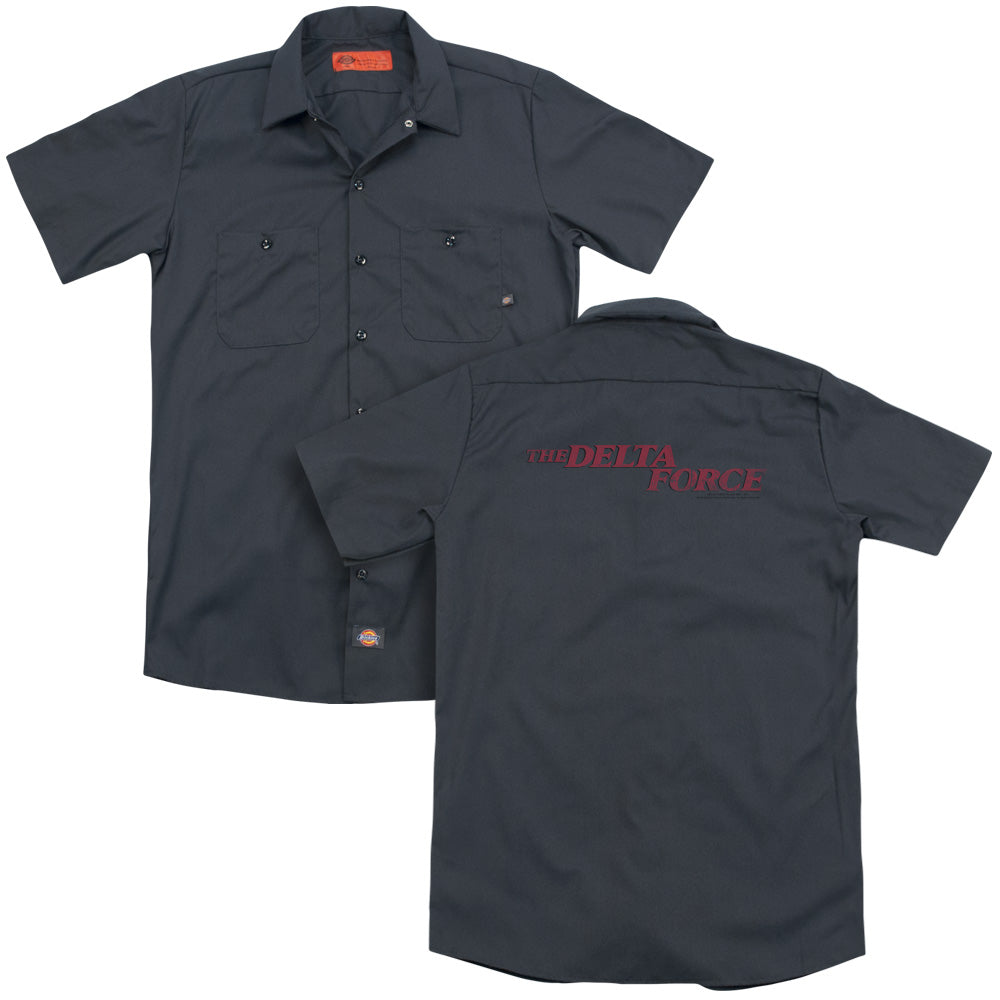 Delta Force Distressed Logo Adult Work Shirt