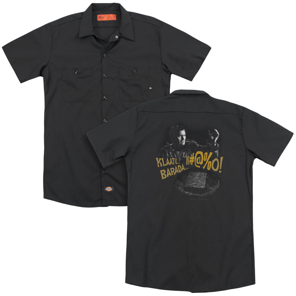 Army Of Darkness Klaatu...barada Adult Work Shirt