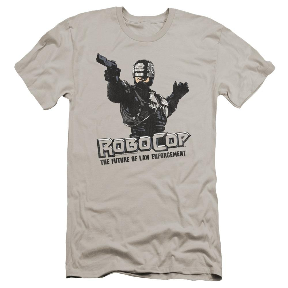 Robocop Future Of Law Premium Adult Slim Fit T-Shirt