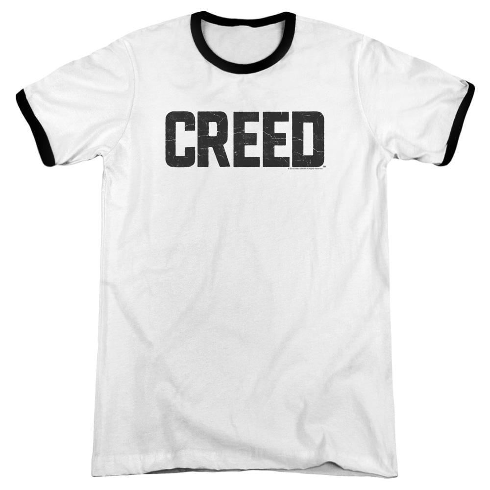 Creed - Cracked Logo Adult Ringer T- Shirt