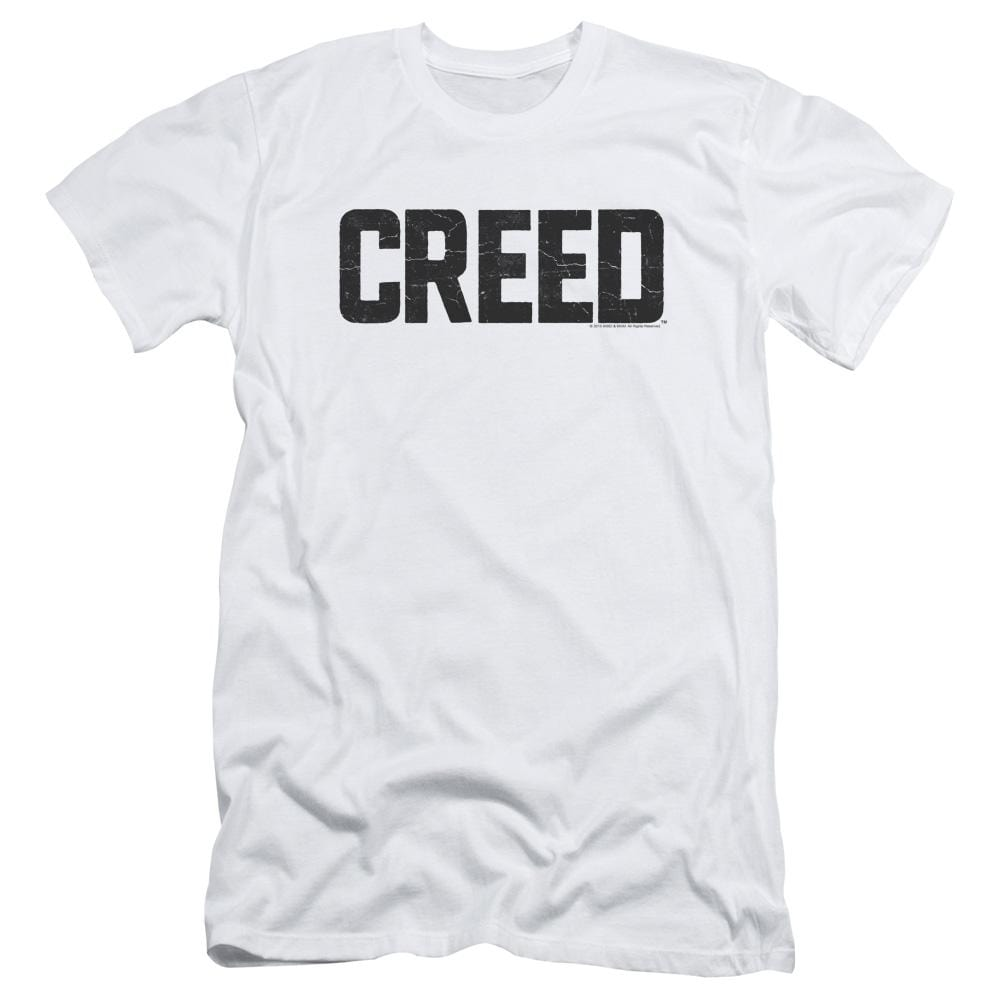 Creed - Cracked Logo Adult Slim Fit T-Shirt