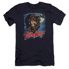 Teen Wolf Moon Wolf Premium Adult Slim Fit T-Shirt