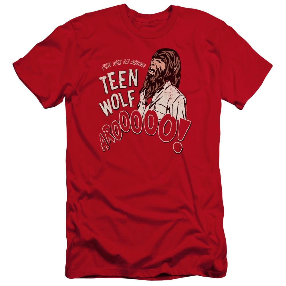Teen Wolf Animal Premium Adult Slim Fit T-Shirt
