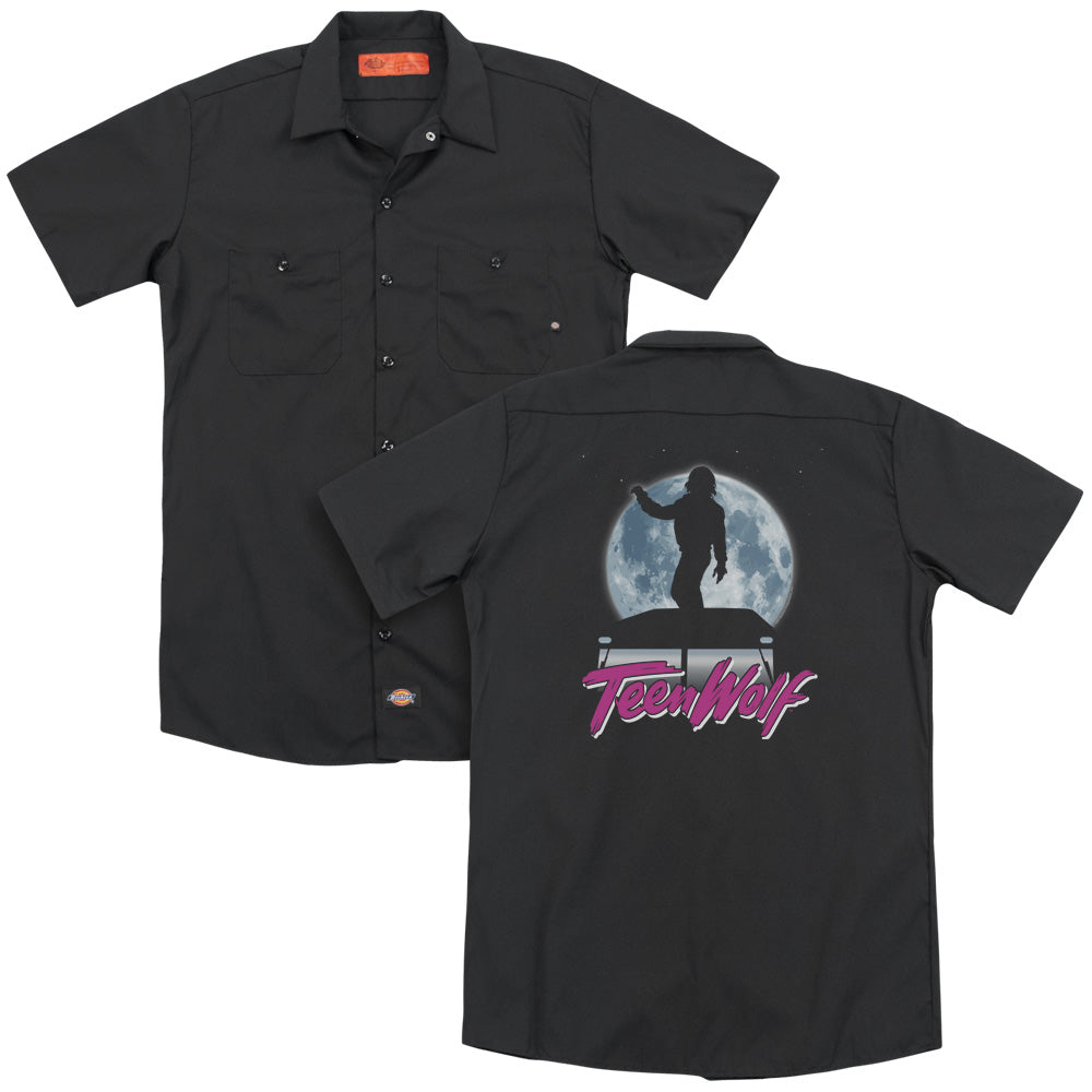 Teen Wolf Moonlight Surf Adult Work Shirt