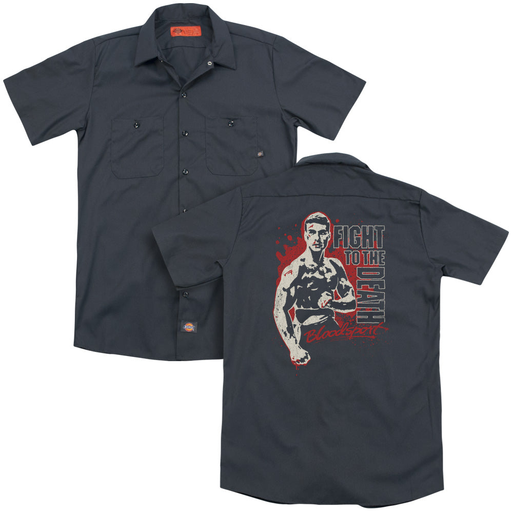 Bloodsport To The Death Adult Work Shirt