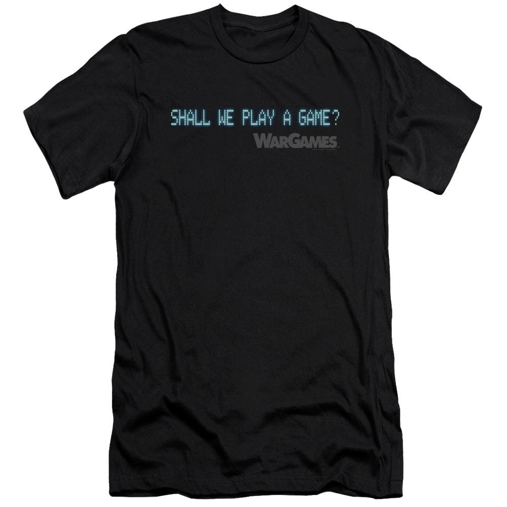 Wargames Shall We Premium Adult Slim Fit T-Shirt