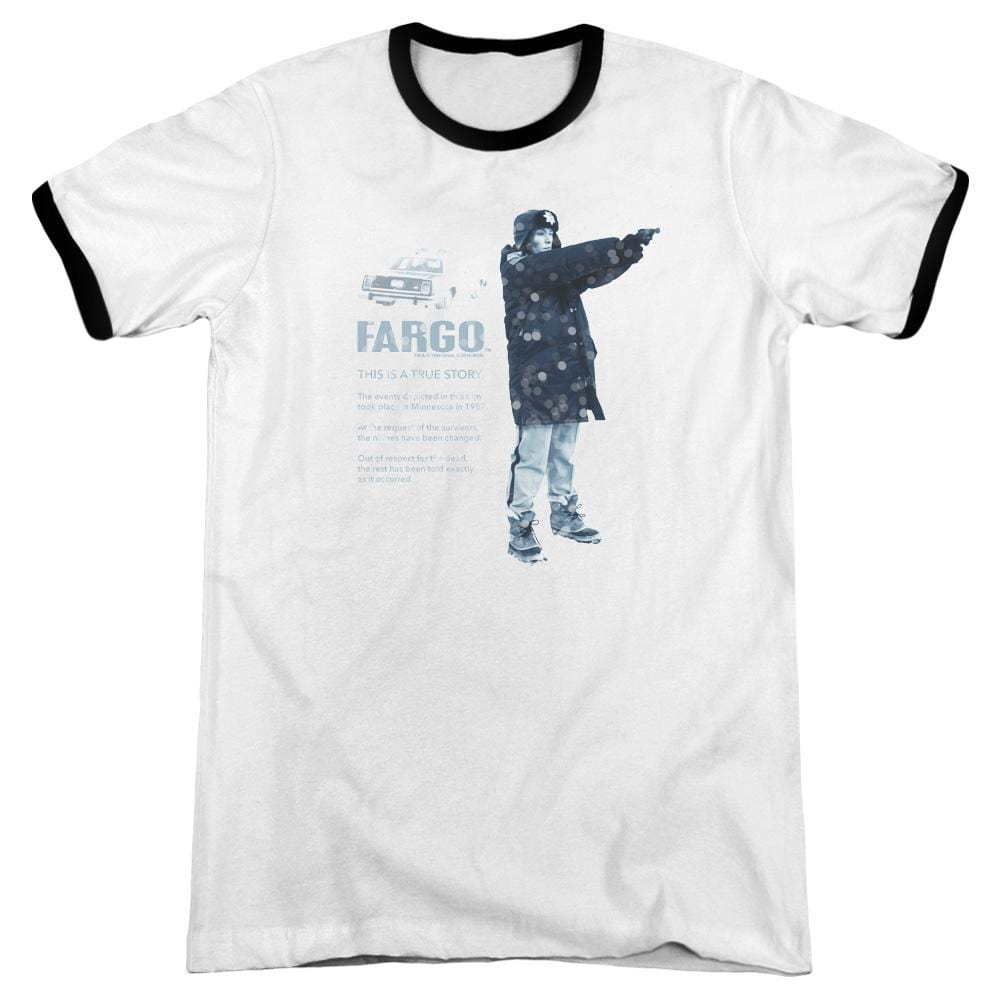 Fargo - This Is A True Story Adult Ringer T- Shirt