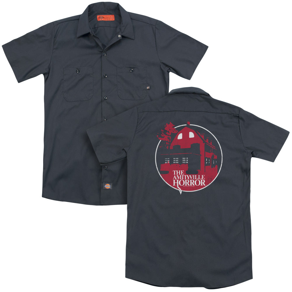 Amityville Horror Red House Adult Work Shirt