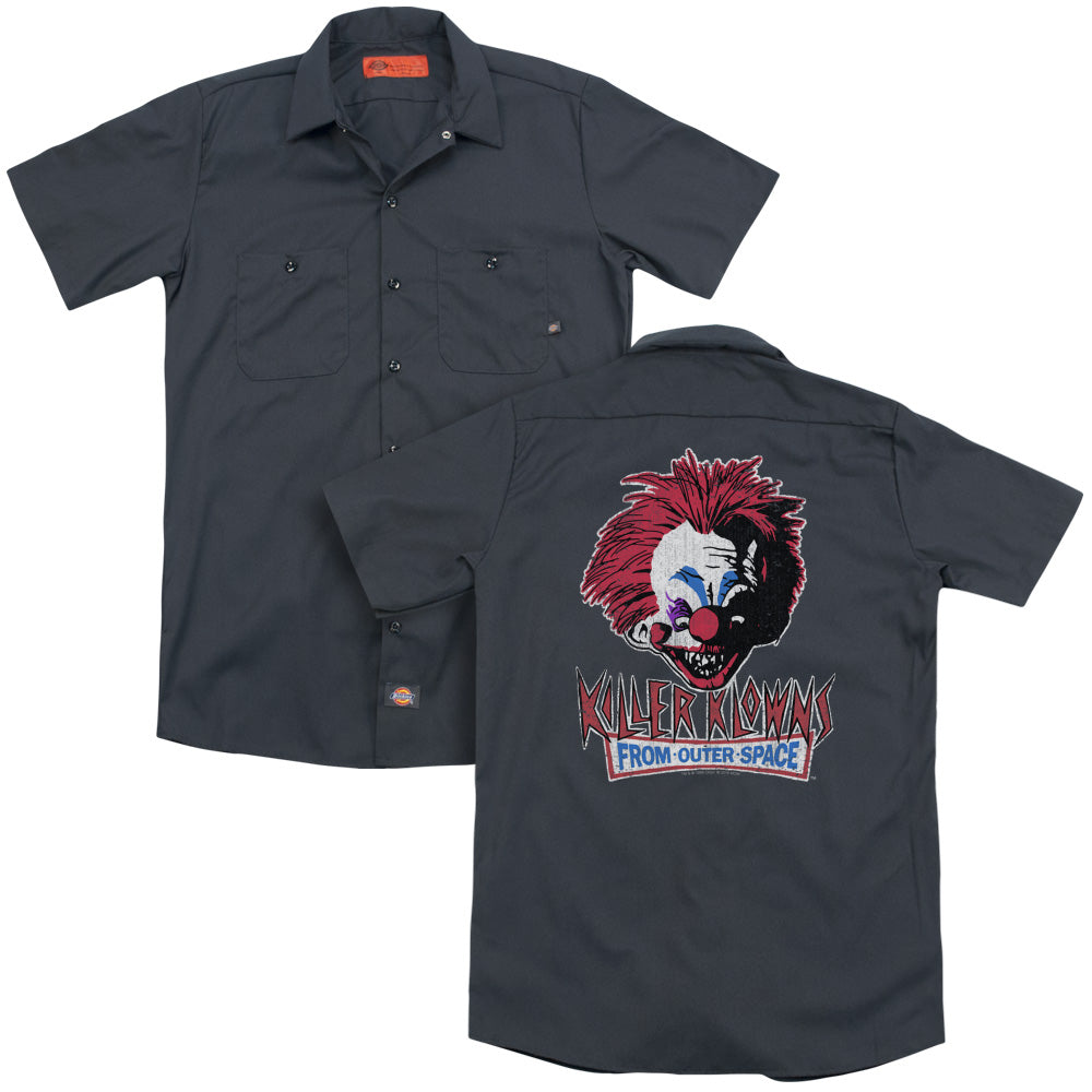Killer Klowns From Outer Space Rough Clown Adult Work Shirt