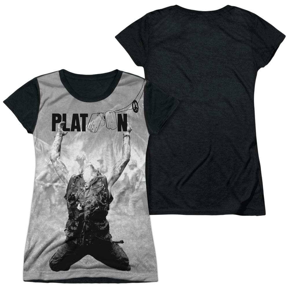 Platoon - Grayscale Poster Junior All Over Print 100% Poly T-Shirt
