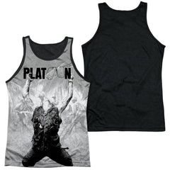 Platoon - Grayscale Poster Adult Tank Top