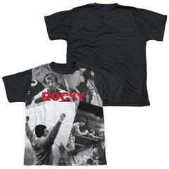 Rocky - 40th Anniversay Collage Youth Black Back 100% Poly T-Shirt
