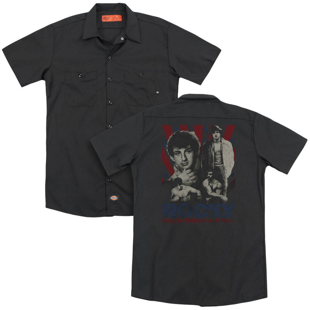 Rocky Going The Distance Adult Work Shirt