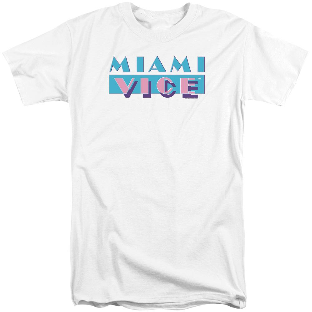 Miami Vice Logo Adult Tall Fit T-Shirt