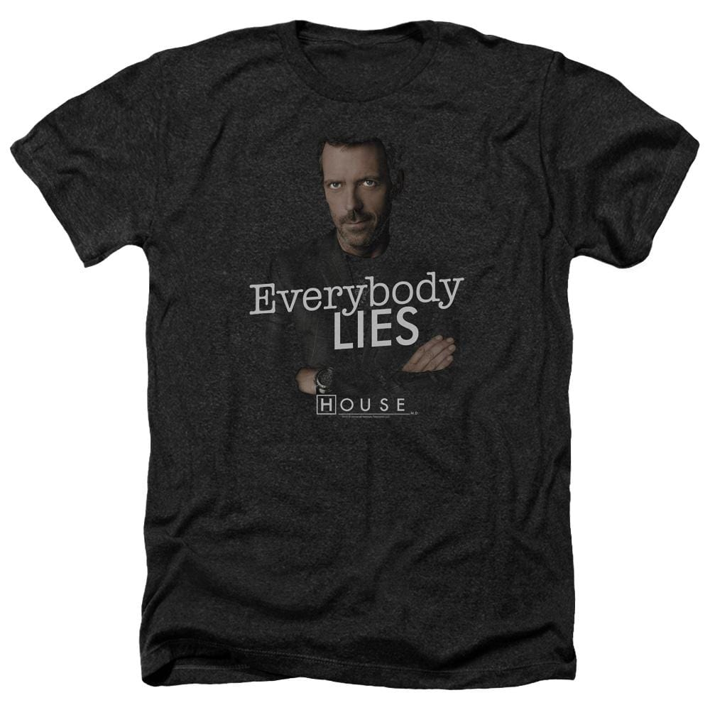 House Everybody Lies Adult Regular Fit Heather T-Shirt