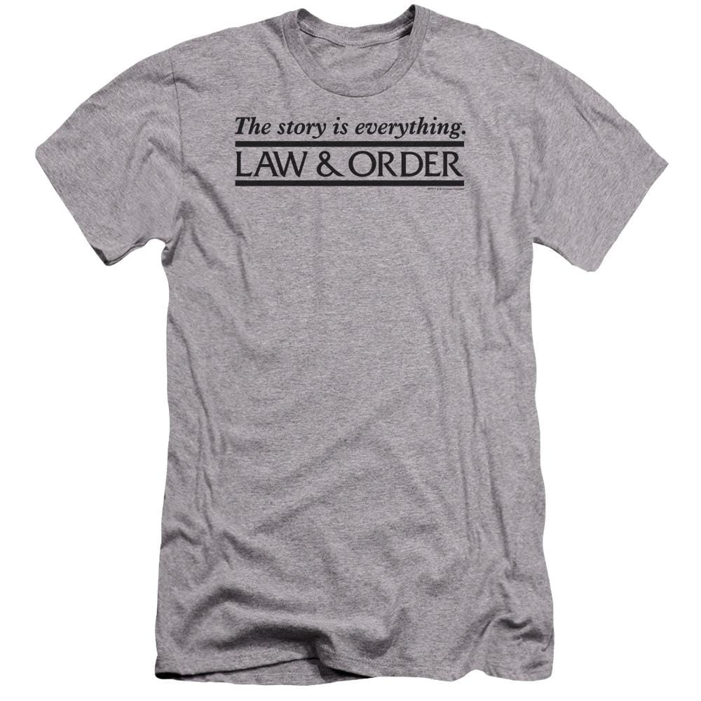 Law And Order Story Premium Adult Slim Fit T-Shirt