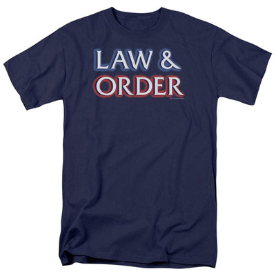 Law and Order Logo Men's Regular Fit T-Shirt