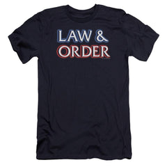 Law And Order Logo Premium Adult Slim Fit T-Shirt