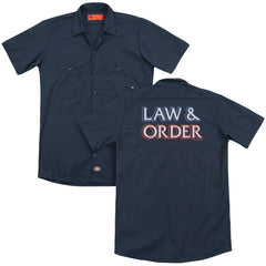 Law And Order Logo Adult Work Shirt