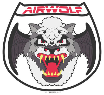 Airwolf Patch Juniors T-Shirt