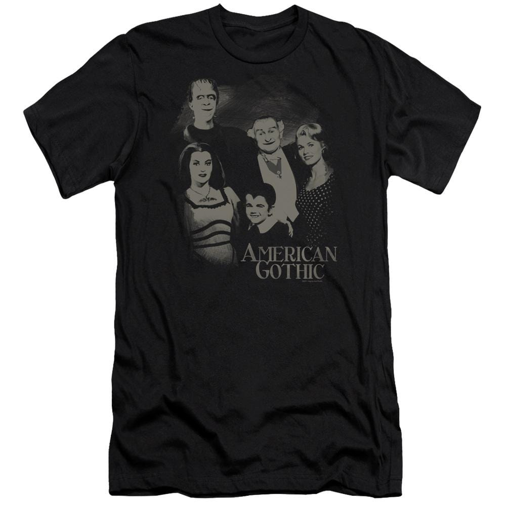 The Munsters American Gothic Premium Adult Slim Fit T-Shirt