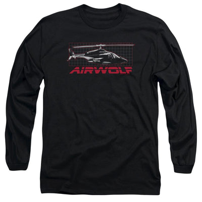 Airwolf Grid Men's Long Sleeve T-Shirt