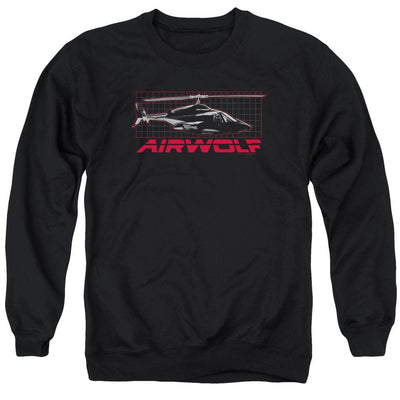 Airwolf Grid Men's Crewneck Sweatshirt