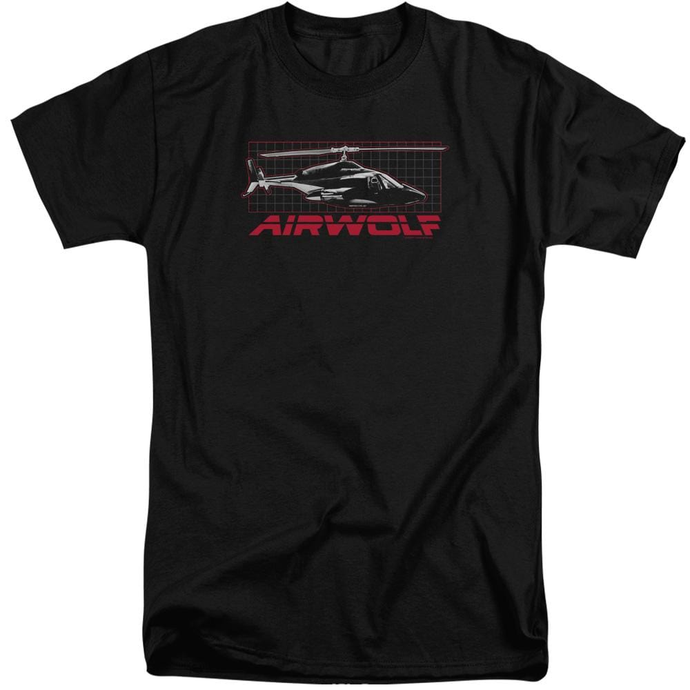 Airwolf Grid Adult Tall Fit T-Shirt