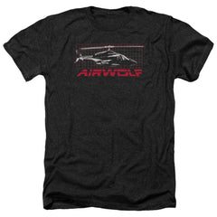 Airwolf Grid Adult Regular Fit Heather T-Shirt