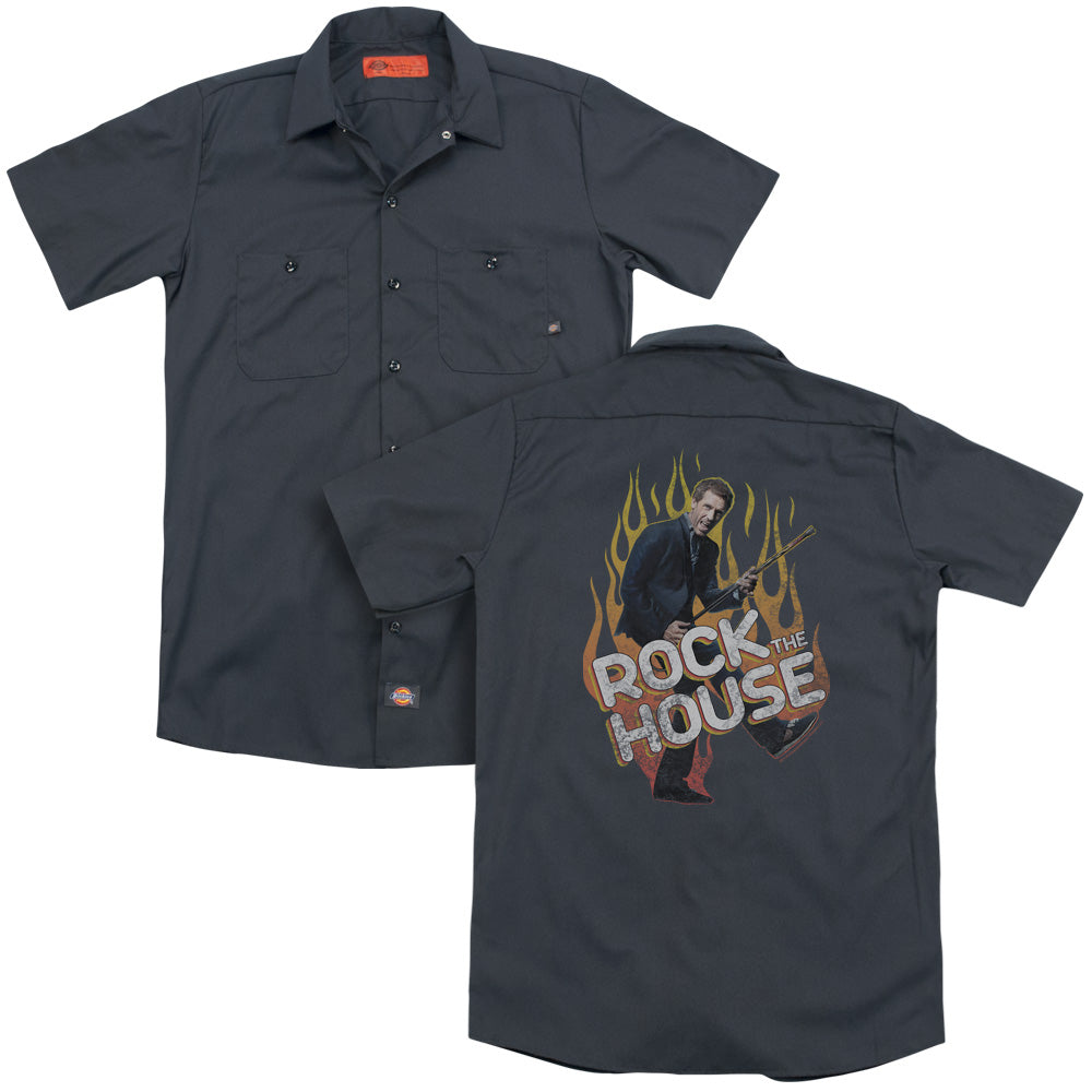 House Rock The House Adult Work Shirt