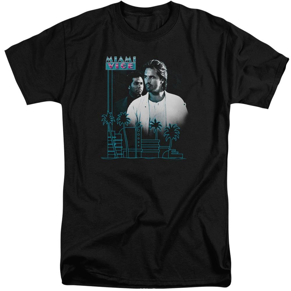 Miami Vice Looking Out Adult Tall Fit T-Shirt