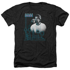 Miami Vice Looking Out Adult Regular Fit Heather T-Shirt