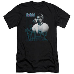 Miami Vice Looking Out Premium Adult Slim Fit T-Shirt