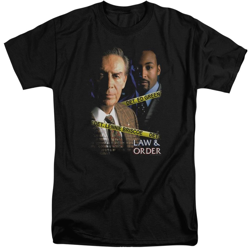 Law And Order Briscoe And Green Adult Tall Fit T-Shirt