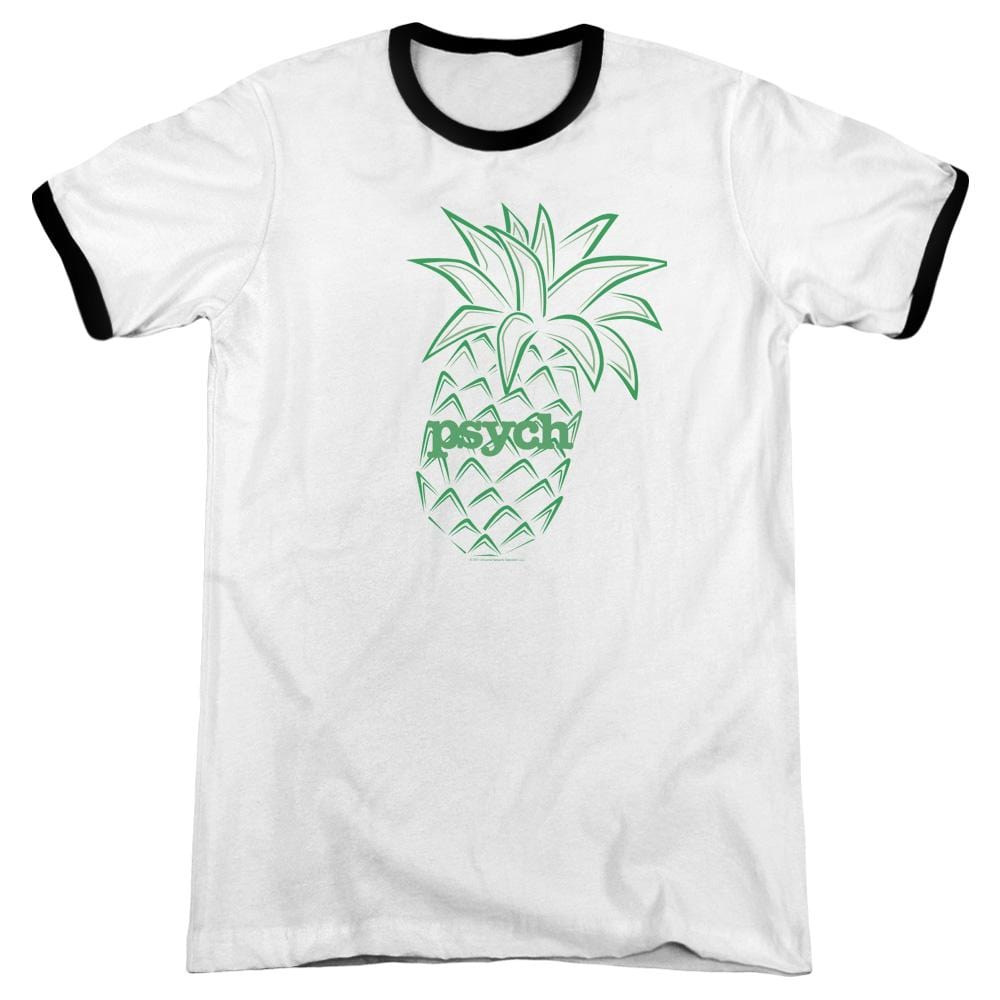 Psych - Pineapple Adult Ringer T- Shirt