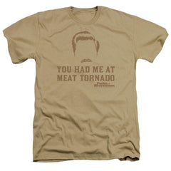 Parks And Rec Meat Tornado Adult Regular Fit Heather T-Shirt
