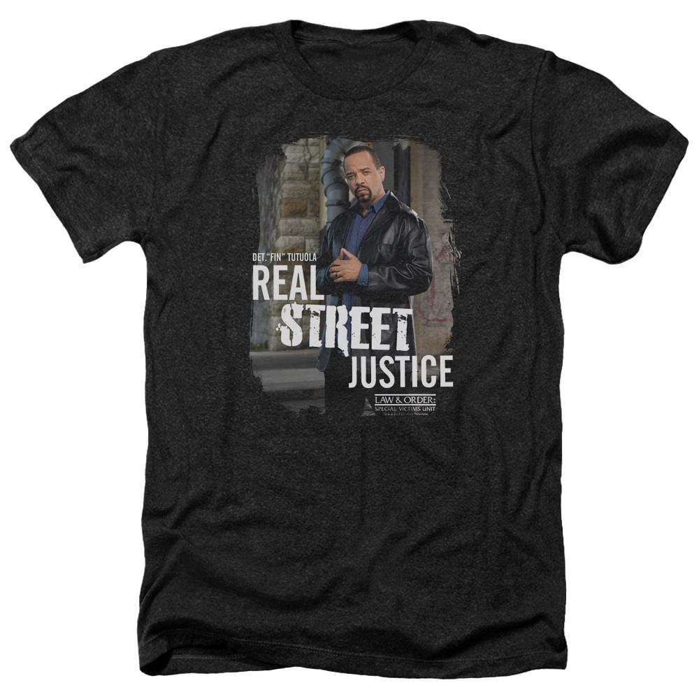 Law And Order Svu Street Justice Adult Regular Fit Heather T-Shirt