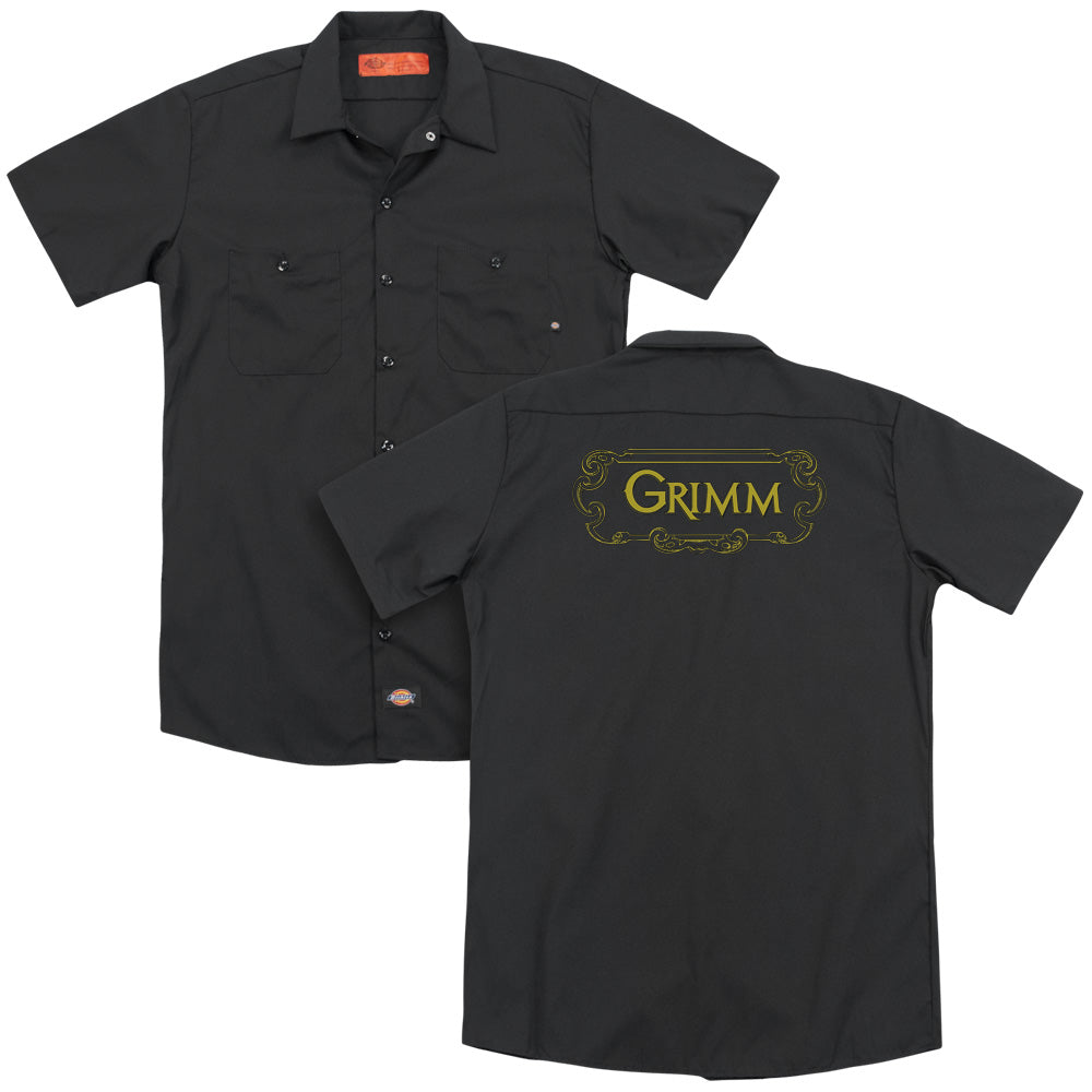 Grimm Plaque Logo Adult Work Shirt