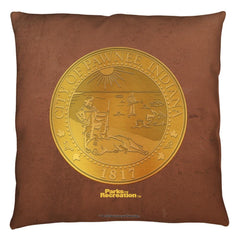 Parks And Rec - Pawnee Seal Throw Pillow